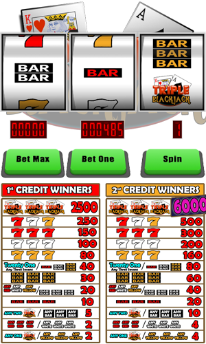 Play Free Online Triple Blackjack Slot Machine